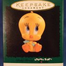 1996 - Hallmark - Keepsake Ornament - Looney Tunes Lovables -Baby Tweety -  Miniature Ornament