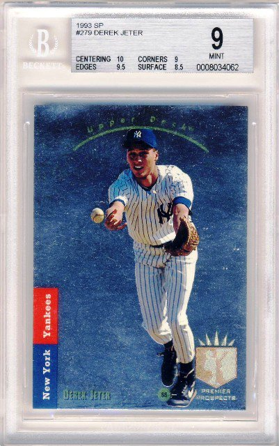1993 - New York Yankees - Derek Jeter - Upper Deck - SP - Rookie Card #279 - BGS 9 - Mint