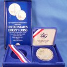 1986 - S - Statue Of Liberty - Centennial - Proof 90% Silver - Half Dollar - Box