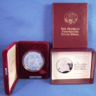 1992 - Proof - US Mint - Ben Franklin Firefighters - 1 T oz - .999 Fine Silver - Medal Coin - COA