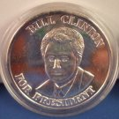 1993 - Bill Clinton - For President - Liberty - Made In America - Troy Ounce .999 Fine Silver Coin
