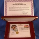 1993 - Elvis Presley - 14KT Gold - 1/4 Oz Proof Coin & First Day Issue Stamp - w/ COA #01086