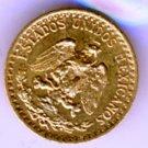 1919 UNC 2 Peso (Dos Pesos) Pure Gold, 1.67 Grams