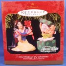 1997 - Hallmark - Disney - Keepsake - Snow White and the Seven Dwarfs - Set of 2 - Ornaments