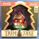 1990 - Coca-Cola - 1936 Tree Trim Collection - Happy Holidays Santa - Christmas Ornament