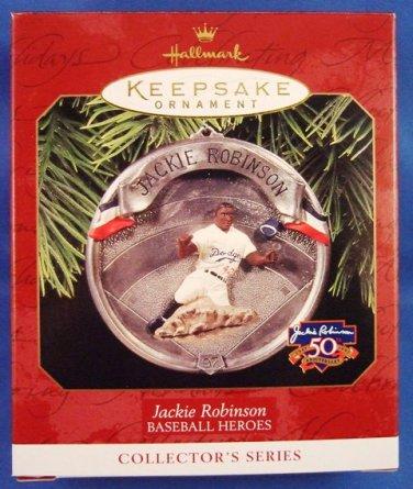 1997 - Hallmark - Keepsake Ornament - Baseball Heroes - Jackie Robinson - Ornament