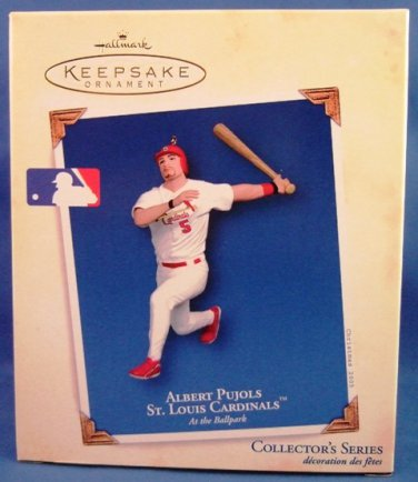 2005 - Hallmark - Keepsake Ornament - Albert Pujols - At The Ballpark Series - Christmas Ornament