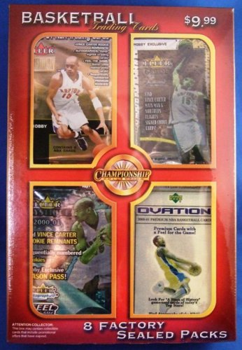 2000- 2001 - 8 NBA Premium Factory Sealed Packs - Championship Collection (3)