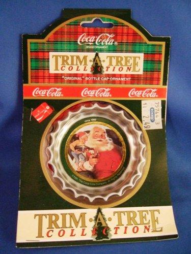 1991 - Coca-Cola - 1936 Tree Trim Collection - Original  Bottle Cap - Christmas Ornament
