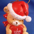 1997 - I Love You - Christmas Bear - Ornament