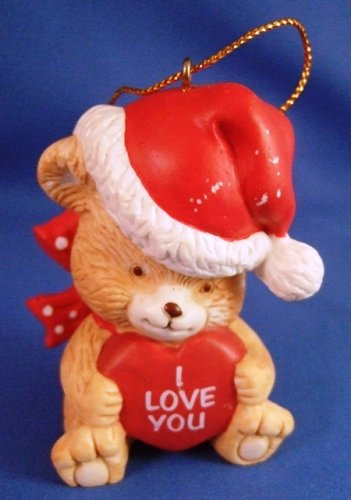 1997 - I Love You - Christmas Bear - Ornament