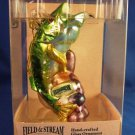 Field & Stream - Outdoor Adventures - Hand-Crafted Glass - Bass Fish - Christmas Ornament
