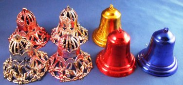 Seven Colored Bells - Christmas Tree Ornaments