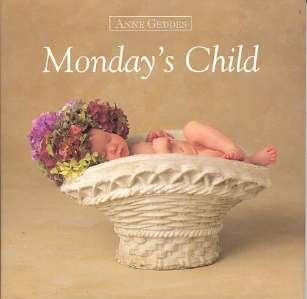 Mondays Child Flower Sleeping Baby Book Anne Geddes NEW