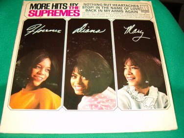 "Supremes 12"" LP More Hits By The Supremes Motown"