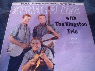 "Kingston Trio 12"" LP String Along Capital Stereo"