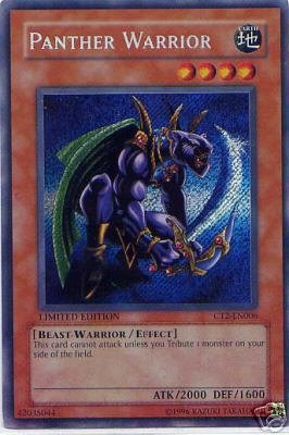 LIMITED EDITION PANTHER WARRIOR HOLOFOIL CT2-EN006 FREE SHIPPING