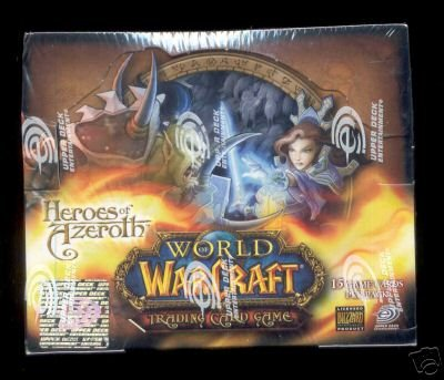 WORLD OF WARCRAFT CARDS 24 PACK BOX HEROES OF AZEROTH WOW !