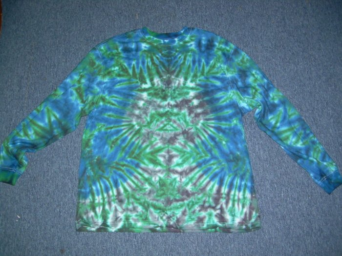 Tie Dye Long Sleeve Shirt X-Large #1