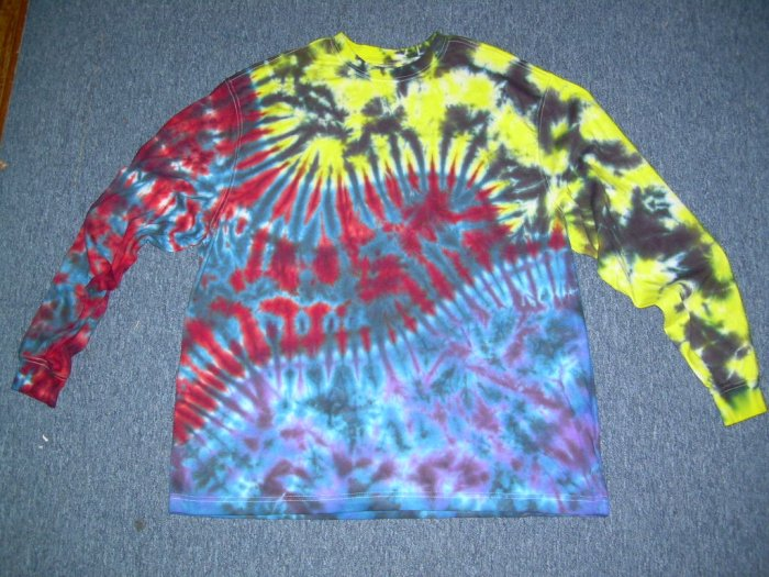Tie Dye Long Sleeve Shirt X-Large #2