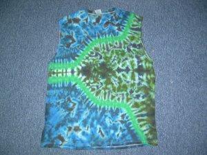 Tie Dye Sleeveless T-Shirt Large #6