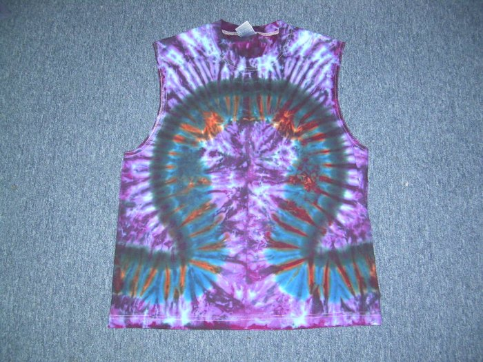 Tie Dye Sleeveless T-Shirt Large #7