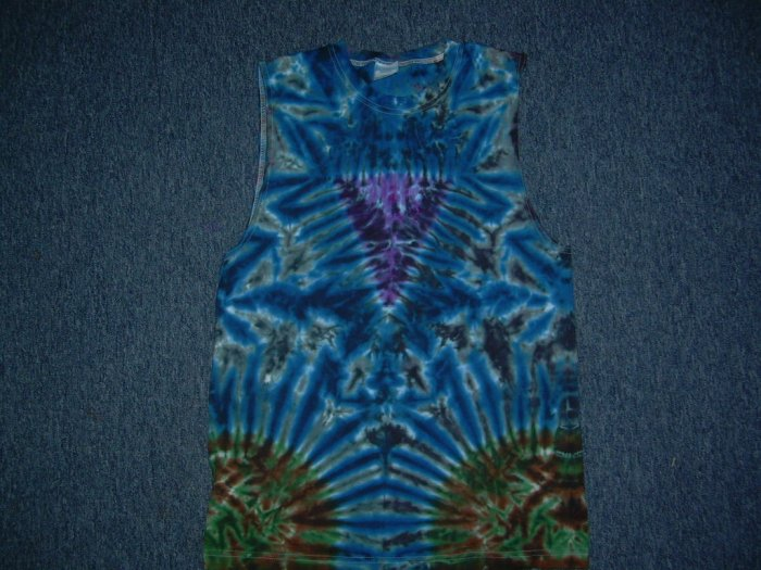 Tie Dye Sleeveless T-Shirt Medium #5