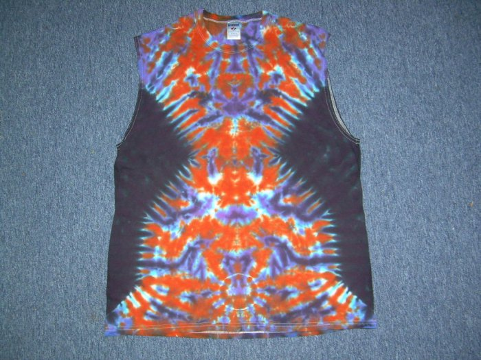X-Large Sleeveless Tie Dye T-Shirt #10