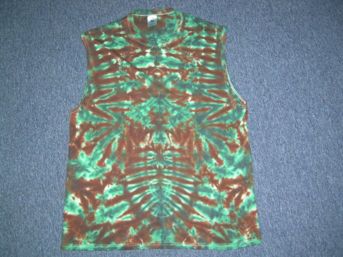 X-Large Sleeveless Tie Dye T-Shirt #11