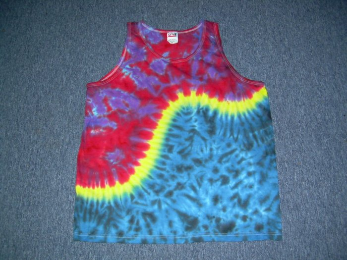 Medium Mens Tie Dye Tank Top #11