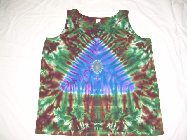 Womens Tie Dye Tank Top X-Large #2