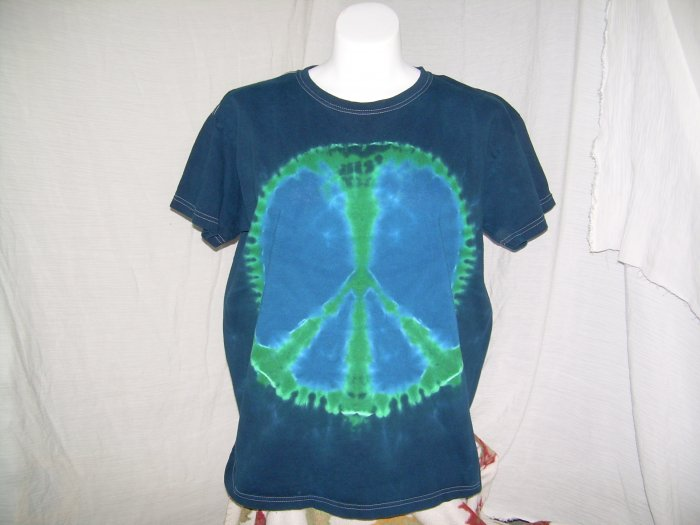 Large Womens Short Sleeve Tie Dyed T-Shirt #2