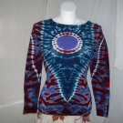 Womens Long Sleeve Tie Dyed T-Shirt Small #3
