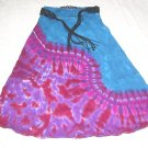 Large Ankle Length Womens Tie Dye Skirt #01