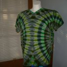 Large V-Neck Womens Tie Dye T-Shirt #3