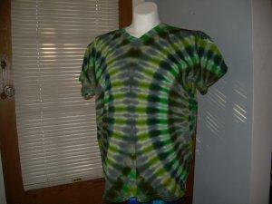 Large V-Neck Womens Tie Dye T-Shirt #3