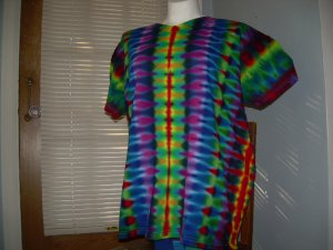 X-Large V-Neck Womens Tie Dye T-Shirt #3