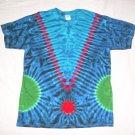 Large Mens Short Sleeve Tie Dye T-Shirt  #66