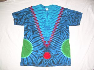 Large Mens Short Sleeve Tie Dye T-Shirt  #66