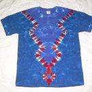 Large Mens Short Sleeve Tie Dye T-Shirt  #75