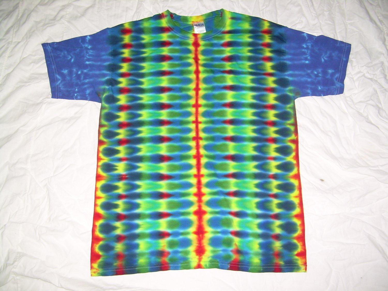 Large Mens Short Sleeve Tie Dye T-Shirt  #76