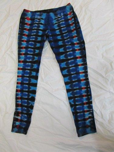 Womens X-Large (15-17) Stretch Leggings Tie Dye #05