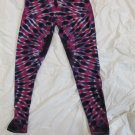 Womens Large (11-13) Stretch Leggings Tie Dye #04