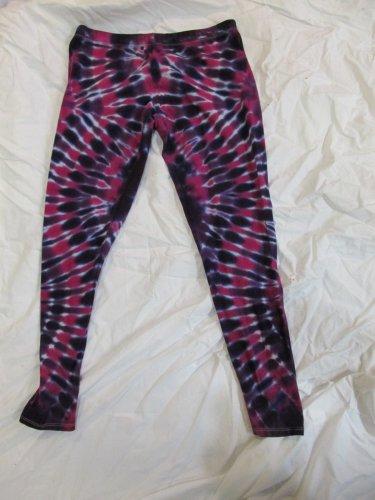 Womens Large (11-13) Stretch Leggings Tie Dye #04