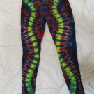 Womens Large (11-13) Stretch Leggings Tie Dye #06