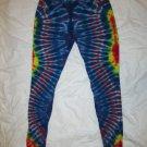 Womens Large (11-13) Stretch Leggings Tie Dye #07