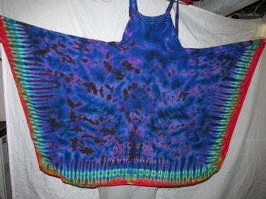 Womens Large Tie Dye Festival Skirt-Dress #02
