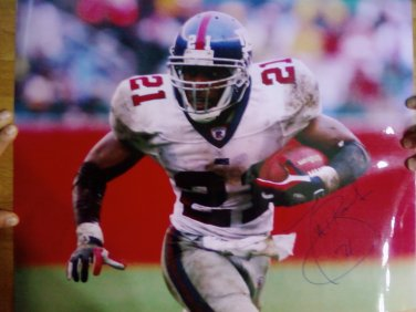 Tiki Barber Signed 16x20 Unframed New York Giants NFL