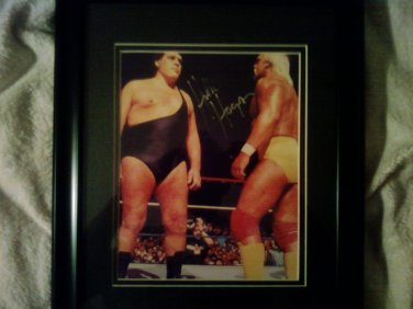 Hulk Hogan WWE SuperStar Signed Unframed 8x10 Photo w/Andre The Giant (NOT SIGNED) W/COA.