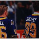 Wayne Gretzky & Brett Hull Duel Autographed 11x14 Photo St. Louis Blues NHL No COA